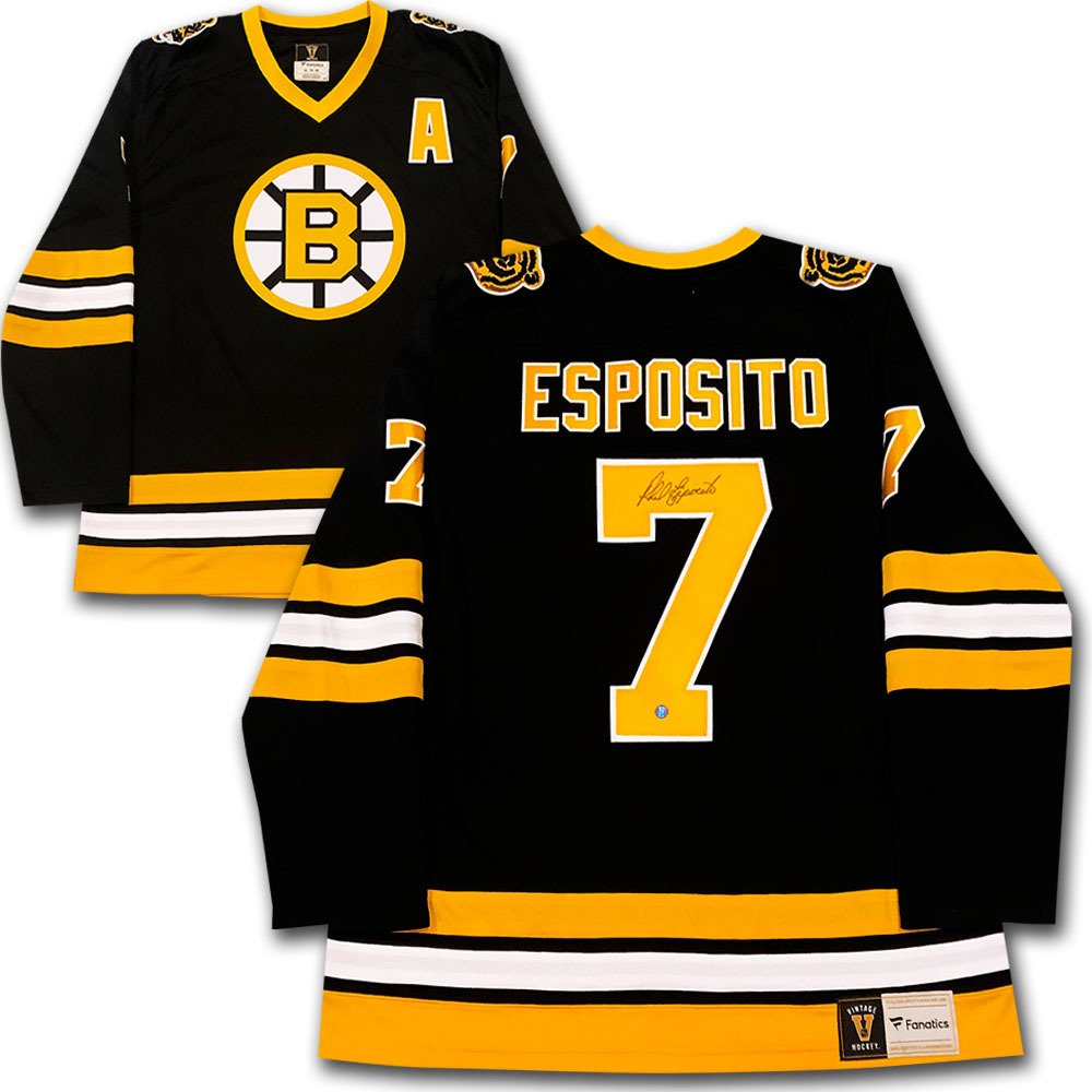 Phil Esposito Autographed Boston Bruins Fanatics Heritage
