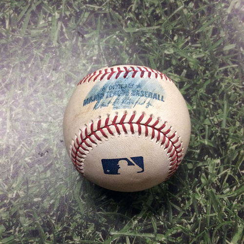 Photo of Game-Used Baseball LAD@MIL 04/19/19 - Josh Hader - A.J. Pollock: Foul