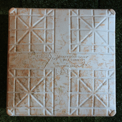 Photo of Game-Used 1st Base: Bo Bichette 1st Career Home Run (Innings 6-9 - TOR @ KC - 7/31/19)