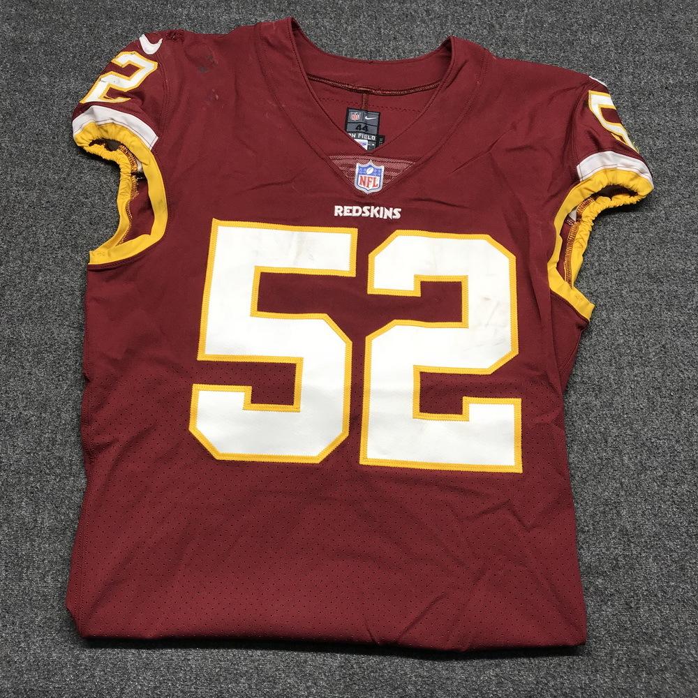 STS - Redskins Ryan Anderson game worn Redskins jersey (November 12
