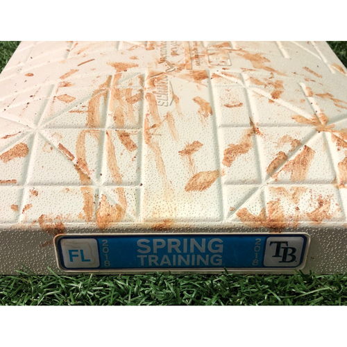 Photo of Game Used Spring Training Second Base - March 27, 2018 v DET