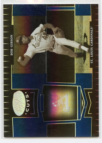 Photo of 2004 Leaf Certified Cuts Marble Blue #247 Bob Gibson LGD