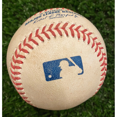 Photo of Austin Riley Game Used Hit Single Baseball - August 22, 2020