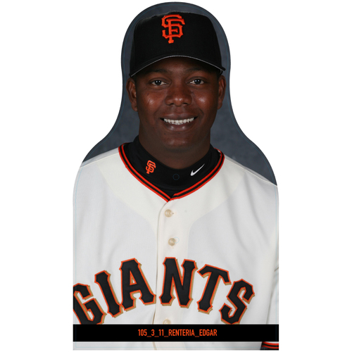 Photo of Giants Community Fund: Giants Edgar Renteria Cutout