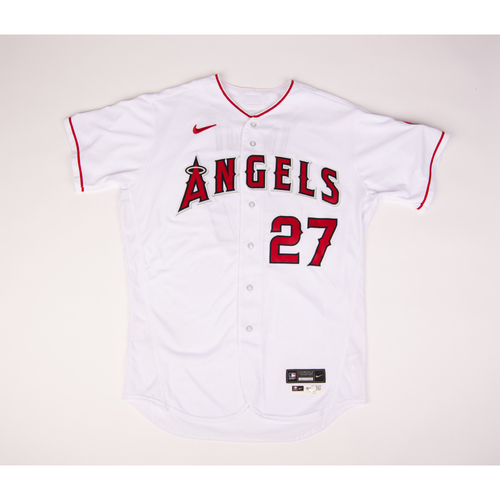 Mike Trout 2020 Game Used Jersey - 7/28 vs. SEA, 8/10 vs. OAK