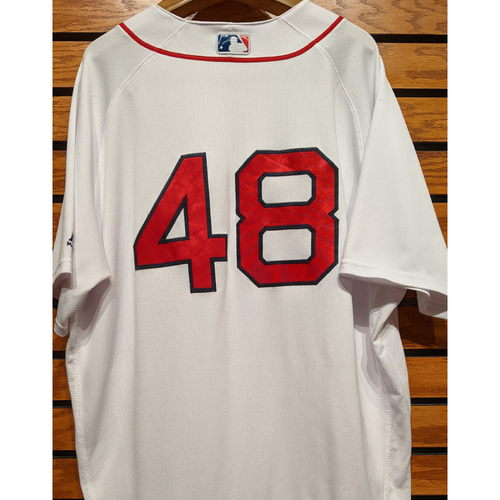 Photo of Pablo Sandoval #48 Team Issued Home White Jersey