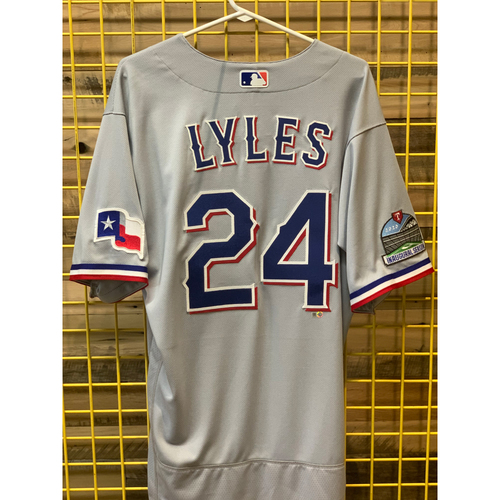 Photo of Jordan Lyles Team-Issued Grey Jersey