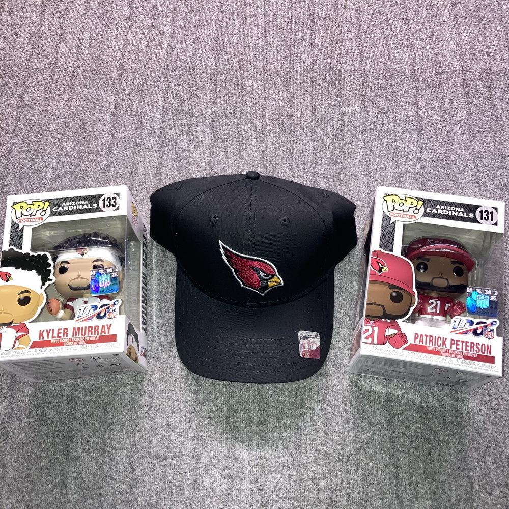 NFL - Cardinals Bundle  Kyler Murray and Patrick Peterson Funko Pops + Cardinals Hat