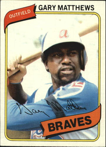 Photo of 1980 Topps #355 Gary Matthews