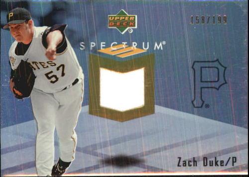 Photo of 2007 Upper Deck Spectrum Swatches #ZD Zach Duke