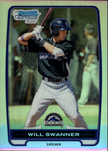 Photo of 2012 Bowman Chrome Prospects Refractors #BCP73 Will Swanner