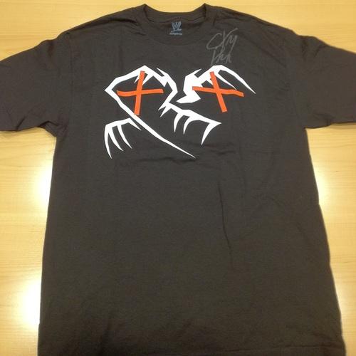 """SIGNED CM Punk """"Crimson X"""" T-Shirt"""