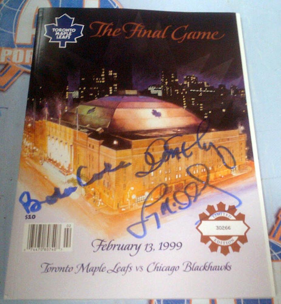 Maple Leaf Gardens AUTOGRAPHED Final Game Program *COLE-CHERRY-MCDONALD*