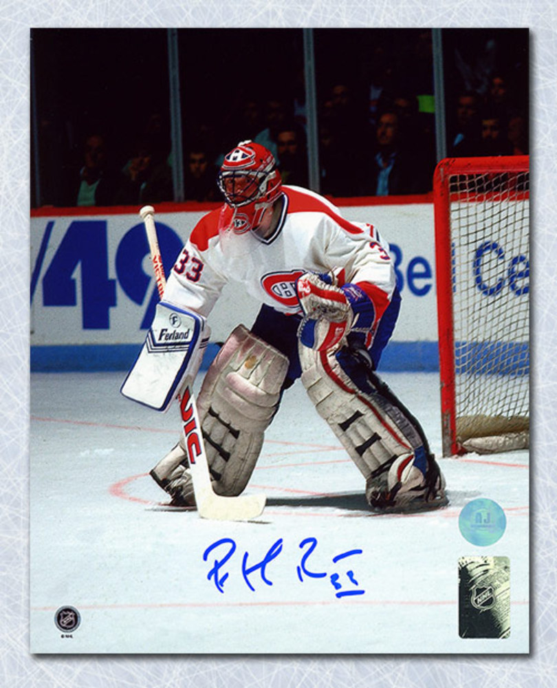 Patrick Roy Montreal Canadiens Autographed In Goal At Forum 8x10 Photo