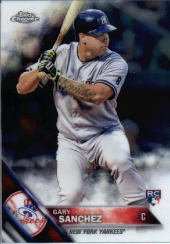 Photo of 2016 Topps Chrome #143 Gary Sanchez Rookie Card