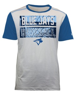 Toronto Blue Jays Slub Crew T-Shirt White/Royal by New Era