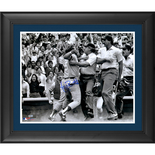 "Photo of George Brett Kansas City Royals Pine Tar Framed Autographed 16"" x 20"" Photograph"