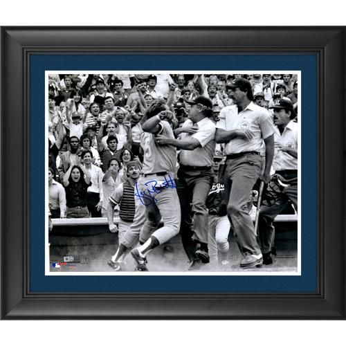 George Brett Kansas City Royals Pine Tar Framed Autographed 16