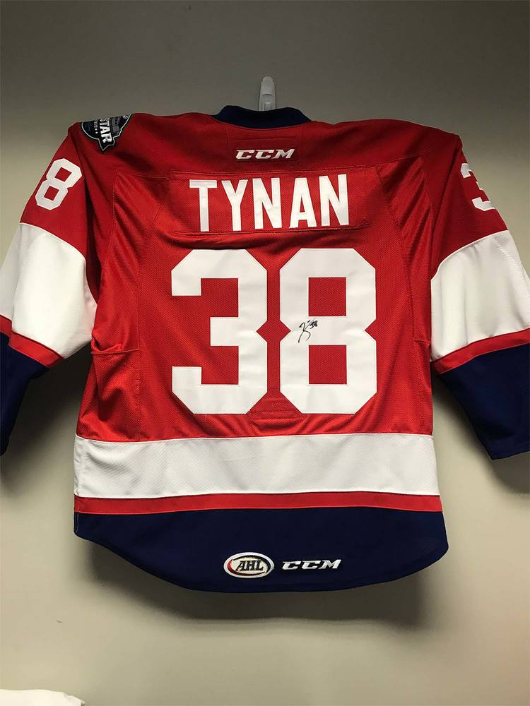 2018 AHL All-Star Challenge Warm-Up Jersey Worn and Signed by #38 TJ Tynan