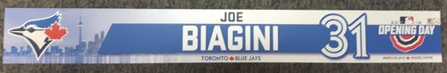 Photo of Authenticated Team Issued Opening Day 2018 Locker Name Plate - #31 Joe Biagini