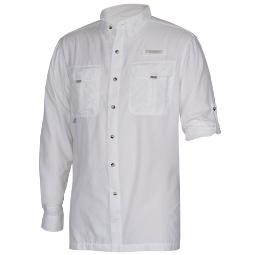 Photo of UMPS CARE AUCTION: Habit Men's Long Sleeve River Guide Shirt, Bright White, Size Large