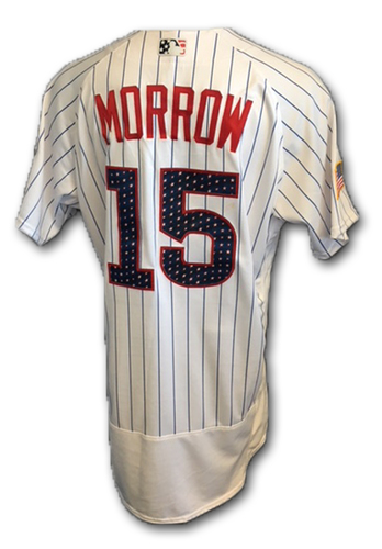 Photo of Brandon Morrow Stars and Stripes Game-Used Jersey -- Morrow 1 IP, 1 K; 19th Save of Season -- Tigers vs. Cubs -- 7/4/18