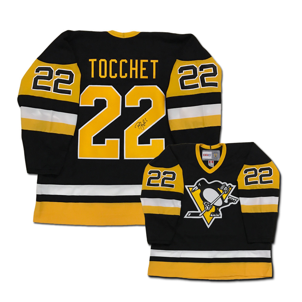 RICK TOCCHET Signed Boston Bruins Black CCM Jersey