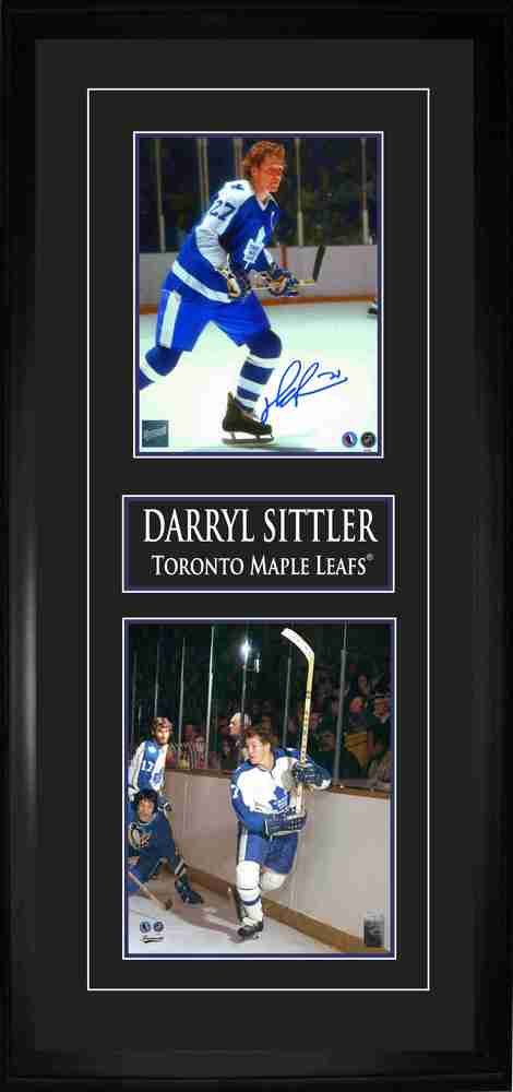 Sittler,D Signed 8x10 Double Photo Frame Maple Leafs