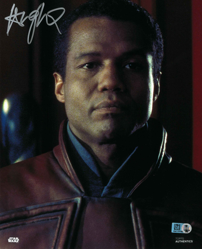 Hugh Quarshie As Captain Panaka 8x10 Autographed in Silver Ink Photo