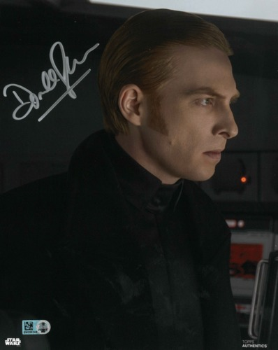 Domhnall Gleeson As General Hux 8X10 AUTOGRAPHED IN 'SILVER' INK PHOTO