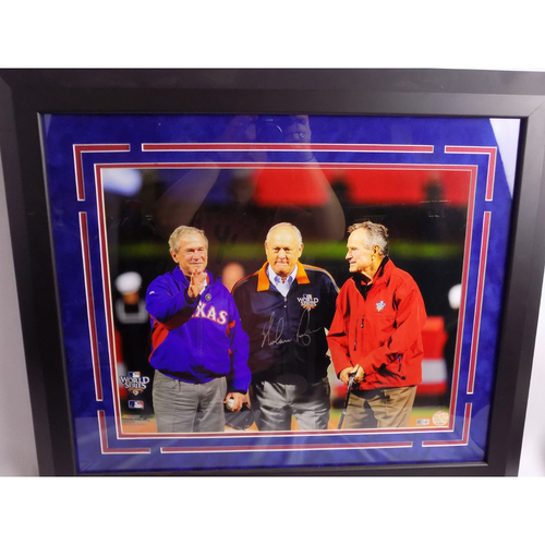 Photo of Autographed 16x20 - Nolan Ryan and The Presidents