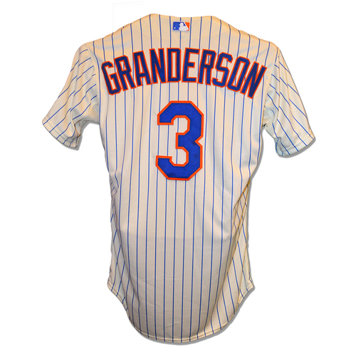 Photo of Curtis Granderson #3 - Team Issued Pinstripe Jersey - 2014 Season