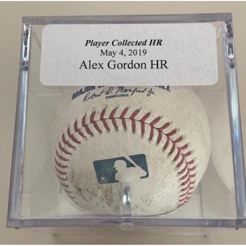 Player Collected Baseball: Alex Gordon Home Run