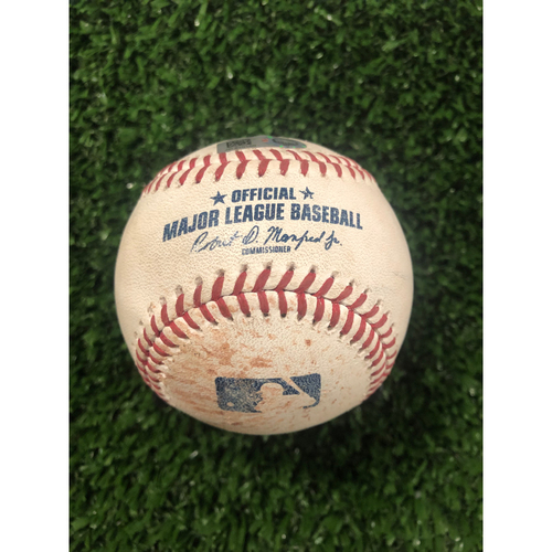 Starling Marte Game Used Hit Single Ball - June 10, 2019