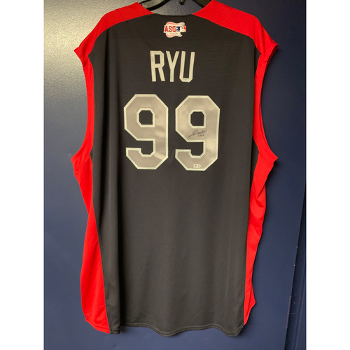 Photo of Hyun-Jin Ryu 2019 Major League Baseball Workout Day Autographed Jersey