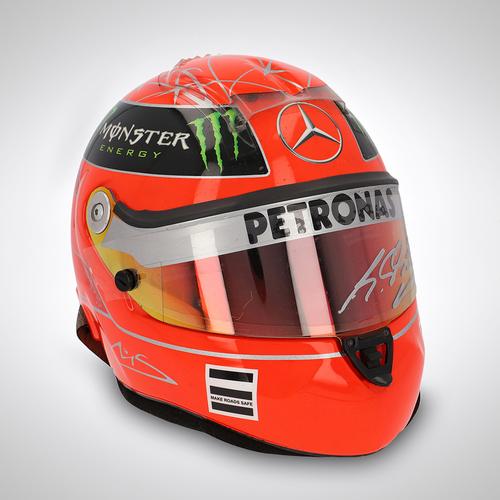 Photo of Michael Schumacher 2011 Race-used Helmet