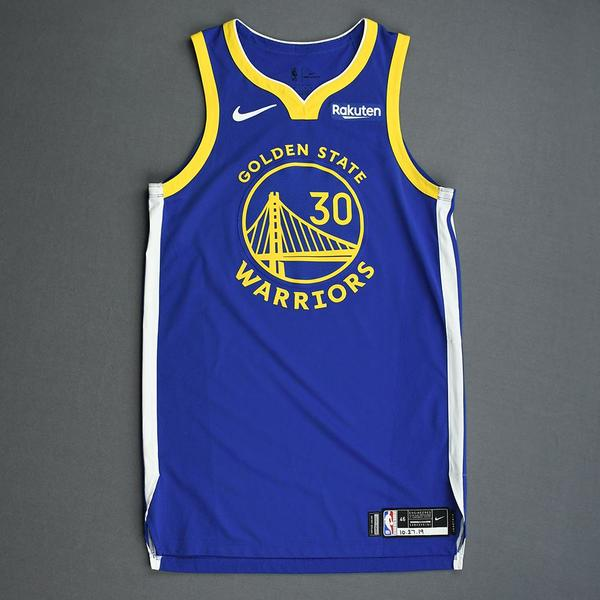 Image of Stephen Curry - Golden State Warriors - Game-Worn Icon Edition Jersey - Scored a Game-High 23 Points - 2019-20 Season