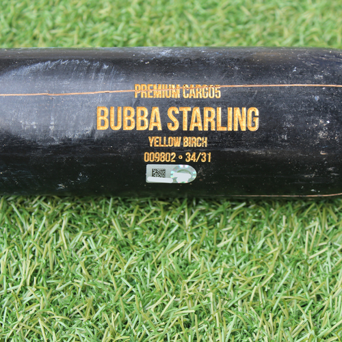 Photo of Game-Used Broken Bat: Bubba Starling Foul (KC @ ATL 7/24/19)