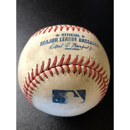 Photo of Game-Used Baseball - 2020 NLCS - Atlanta Braves vs. Los Angeles Dodgers - Game 7 - Pitcher: Blake Treinen, Batter: Nick Markakis (Fielder's Choice Double Play - Turner tags Swanson out, Turner to Seager, Riley out at 3B) - Top 4