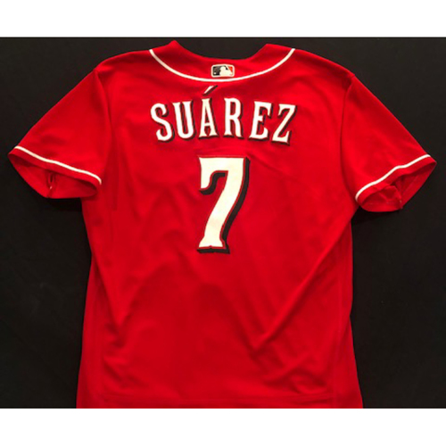 Photo of Eugenio Suarez -- 2020 Spring Training Jersey -- Team-Issued -- Size 46