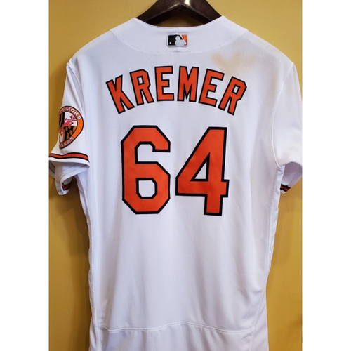 Photo of Dean Kremer - Home Jersey: Game Used Mother's Day