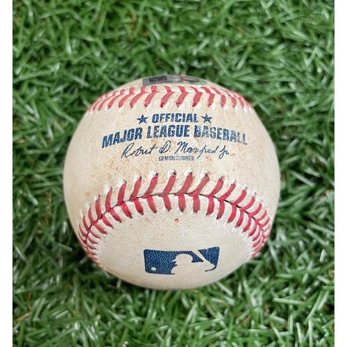 Photo of Game Used Baseball: Carter Kieboom single off Ryan Thompson - Top 2 - September 16, 2020 v WSH