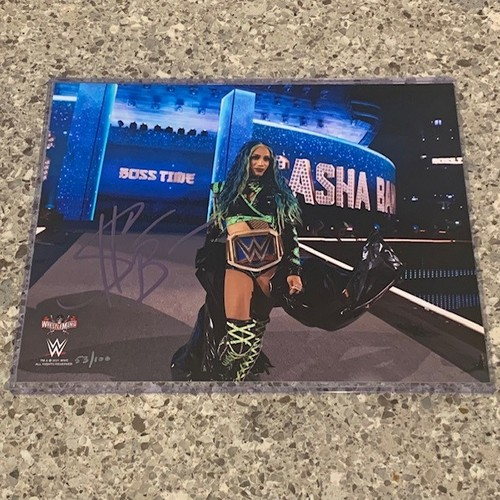 Sasha Banks SIGNED WrestleMania 37 8x10 Photo (Random Number)