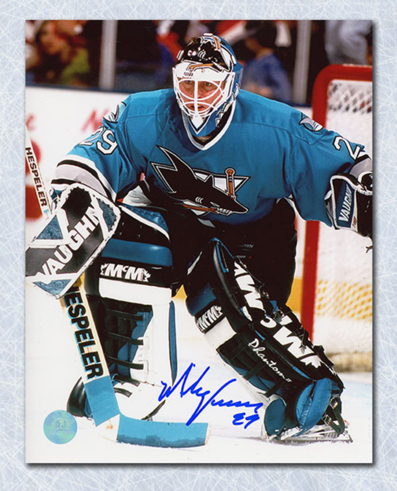 Mike Vernon San Jose Sharks Autographed Goalie 8x10 Photo