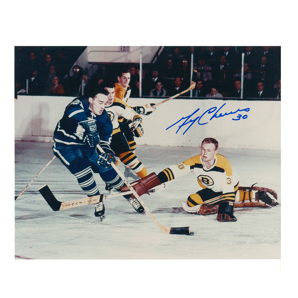 GERRY CHEEVERS Signed Boston Bruins 8 X 10 Photo - 70108