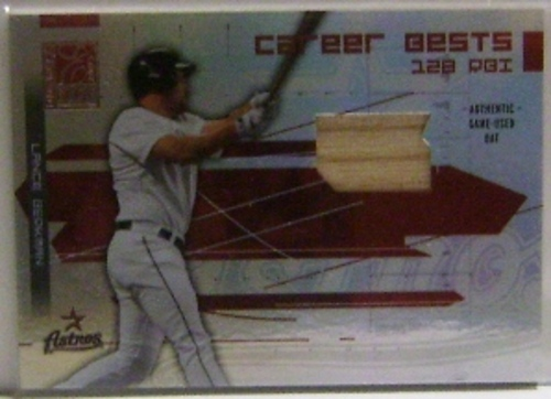 Photo of 2003 Donruss Elite Career Bests Materials #11 Lance Berkman RBI Bat
