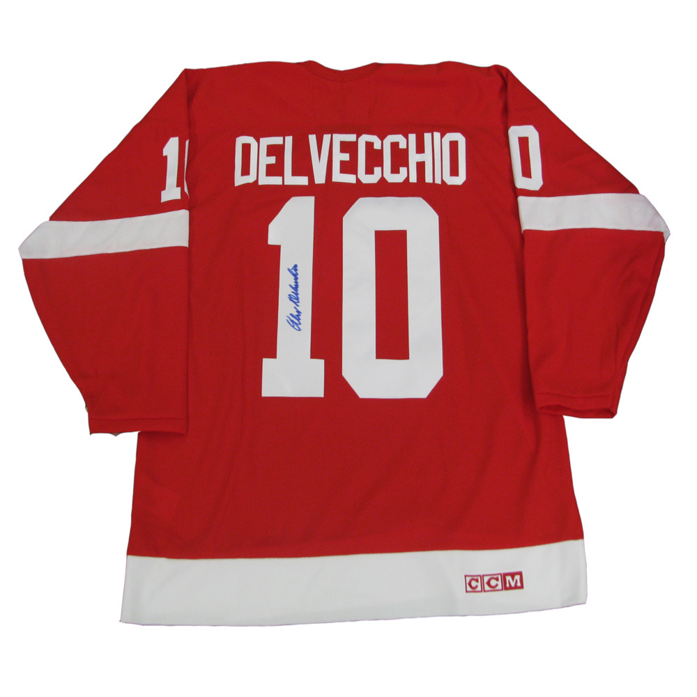 ALEX DELVECCHIO Signed Detroit Red Wings Red CCM Jersey