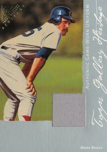 Photo of 2003 Topps Gallery Heritage Relics #WB Wade Boggs Uni B