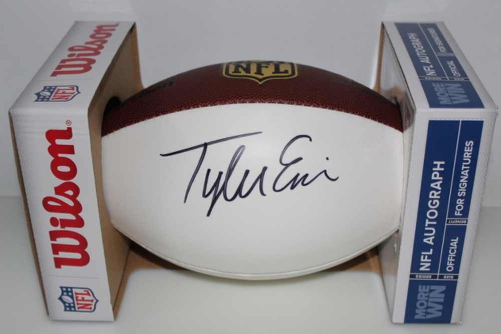 NFL - TEXANS TYLER ERVIN SIGNED PANEL BALL