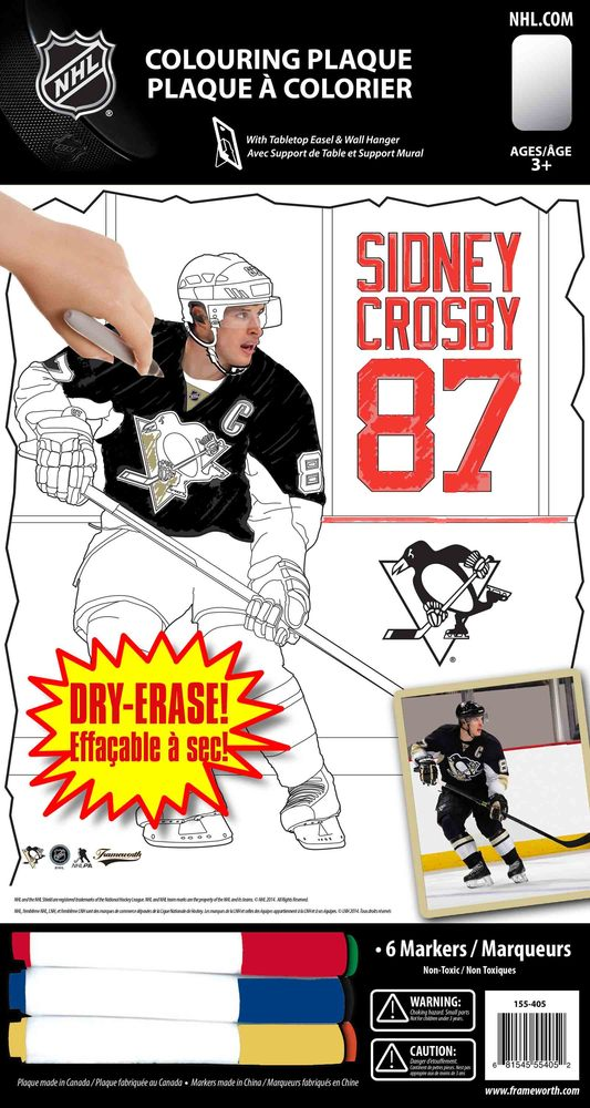Sidney Crosby - Pittsburgh 8x10 Colouring Plaque